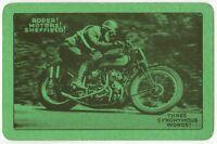 Playing Cards 1 Single Card Old ROPER MOTORS MOTORCYCLE Advertising Bike Racing