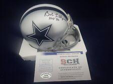 Bob Lilly Signed Auto Cowboys Mini Helmet W/HOF 80 - SCH Authentic