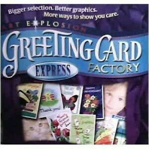 Art Explosion Greeting Card Factory Express Workshop - Windows PC CD-ROM (2006)