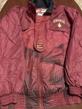 Vintage 90's Florida State Team Nike Full Zip Mens Windbreaker Puffer Jacket M