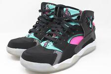 size 40 47eb6 2906a Nike Air Flight Huarache Mens Black Pink Pow Light Retro 705005-003 Sz 10
