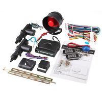 2 Door Remote Control Keyless Entry Central Locking Kit Set & Car Security Alarm
