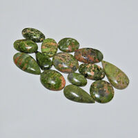 14Pcs Natural Unakite Mix Cabochon Loose Gemstone 198Cts. Lot b604