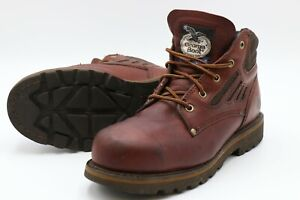 Georgia Boot Women's Size 10 W Comfort Core Steel Toe Brown Leather G3351