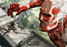Attack on Titan Eren VS Colossus Card Game Character Rubber Play Mat Anime Art