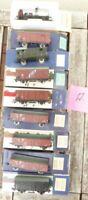 Piko Konvolut 9 Stück 2-achsige Güterwagen Ep.3/4, DR etc.gebraucht erhalten -A-