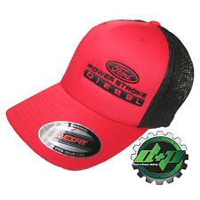 Ford Powerstroke truckers mesh summer hat Red/Black cap fitted flexfit!