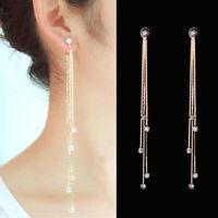 tassel diamante mode boucles d'oreilles agiter crystal oreille étalon goutte