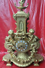 French Japy Freres Double Cherub Statue Clock-Has Thermometer and Cobalt Numbers