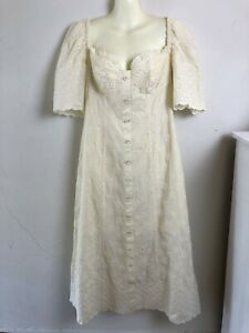 Alice McCall Size 12 Angels Creme Midi Dress New With Tags
