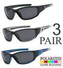 3 PAIR COMBO Nitrogen Polarized Sunglasses Golf Running Fishing Glasses UV400