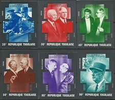Togo De Gaulle Eisenhower Churchill Kennedy Paul VI Non Denteles Imperfs ** 1971