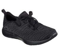Comfort Skechers shoes Black Memory Foam Women Slip On Casual Knit Mesh 12877