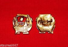 Authentic Soviet Pin Badge Shock-Worker of the Summer Quarter VLKSM Komsomol