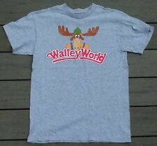 National Lampoons Vacation WALLY WORLD Medium Gray T-shirt Mens M