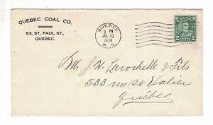 1930-07-10, #164 CANCELED QUEBEC, QUEBEC COAL CO., 63 ST. PAUL STREET, QUEBEC