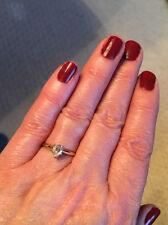 14k Pear Diamond Engagement Ring .56 ct Helzberg size 5 ** Diamond in a diamond