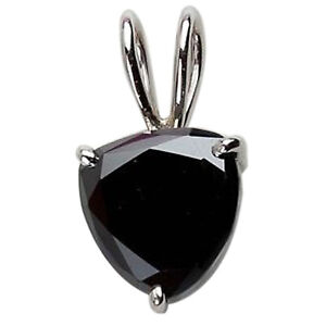 Trillion Cut 4.65Ct Natural Black Diamond Women's Pendant In 925 Sterling Silver