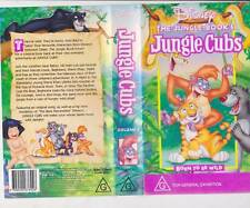 THE  JUNGLE. BOOK .JUNGLE CUBS ..WALT DISNEY RARE VIDEO PAL VHS A RARE FIND~