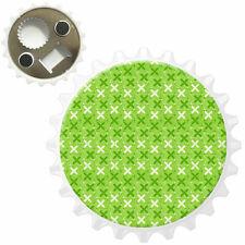 White & Green Kisses Bottle Opener Fridge Magnet
