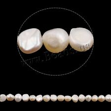 """High Quality Natural White Baroque Cultured Freshwater Pearl Beads 15.3"""" 5-6mm"""