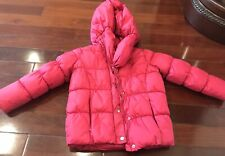 DKNY Pink Kid Girl Hoodie Jacket Small S Polyesters Fiber Winter Cold Coat Red