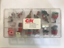 New Listingbox Of 35 Assorted Miniature Campk Printed Circuit Pc Switches Made In Usa