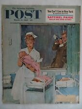 Saturday Evening Post Magazine March 11,1961 Coby Whitmore  VINTAGE ADS Rockwell