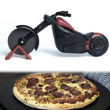 Pizza Rad Cutter Motorrad Modell Klinge Hand Chopper Slicer Küche Gadget Neu