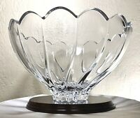 """Vintage Poland Marquis By Waterford Sheridan Centerpiece Lead Crystal Bowl 10"""""""