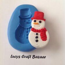 Silicona Molde Muñeco De Nieve Navidad Navidad Cup Cake Pop Decoración Sugarcraft botón