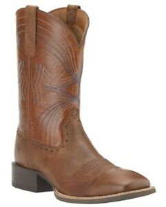 Ariat Mens Sport Wide Square Toe Western Boots Sandstorm #10015312 ~ MANY SIZES!