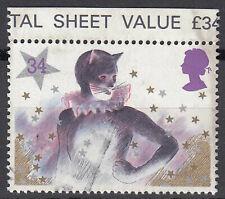 Großbritannien England gestempelt Katze Tier Kostüm Karneval Stern Fasching /567