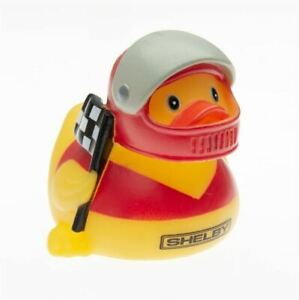 Shelby Rubber Ducky - Red Helmet * Cool Collectible Racer Duck! Free US Shipping