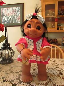 """GIANT LIVVY w/HANG TAG -  17"""" Dam Troll Doll -  NEW IN WRAPPER"""