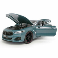 1:24 BMW M840i 2019 Coupe Model Car Alloy Diecast Toy Kids Gift Blue Sound Light