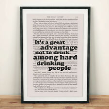 The Great Gatsby Book Page Art It's A Great Advantage Print Quote