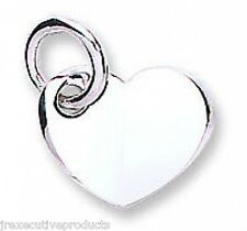 Heart Pendant Heart Necklace White Gold Heart Pendant White Gold Heart