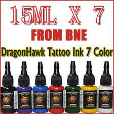 OZ STOCK Dragon Hawk 7 Color Tattoo Ink 15mlx7