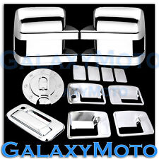 08-10 Ford Super Duty Chrome Mirror+4 Door Handle w/o PSG KH+Tailgate+GAS Cover