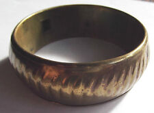 Vintage Hammered Solid Brass Bangle Bracelet Nicely Made – India