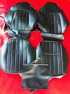 HOLDEN HJ,HX BLACK VINYL BUCKET SEAT KIT