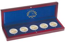 Allemagne 2007 - 5 x 2 euro Traité de Rome de pièces dans un cas de présentation en bois