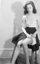 Vintage 1930s Photo School Girl Sexy Pin Up Undressing Naughty Risque #1262