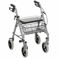 Drive SR8 Robust Steel Rollator Walker With Tray & Basket