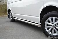 Side Bars For Volkswagen Transporter Caravelle T6 LWB 2015+ Stainless Steel Van