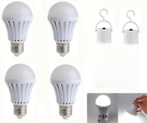 Emergency Bulbs Rechargeable LED Light with Battery Backup LED Bulb, Pack of 4