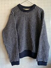 LL Bean Norwegian Wool Jumper Preppy USA Genuine Ivy League Large Good Condition