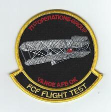 71st OPERATIONS GROUP FCF FLIGHT TEST patch