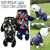 S~L Camouflage Color Dog Pet Clothes Apparel Jumpsuit Warm Hoodie Coat Clothing